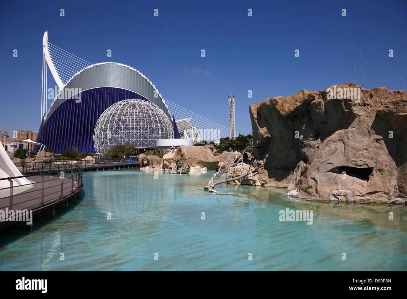 city of arts and sciences ciutat de les arts i les ciencies valencia spain - Stock Image
