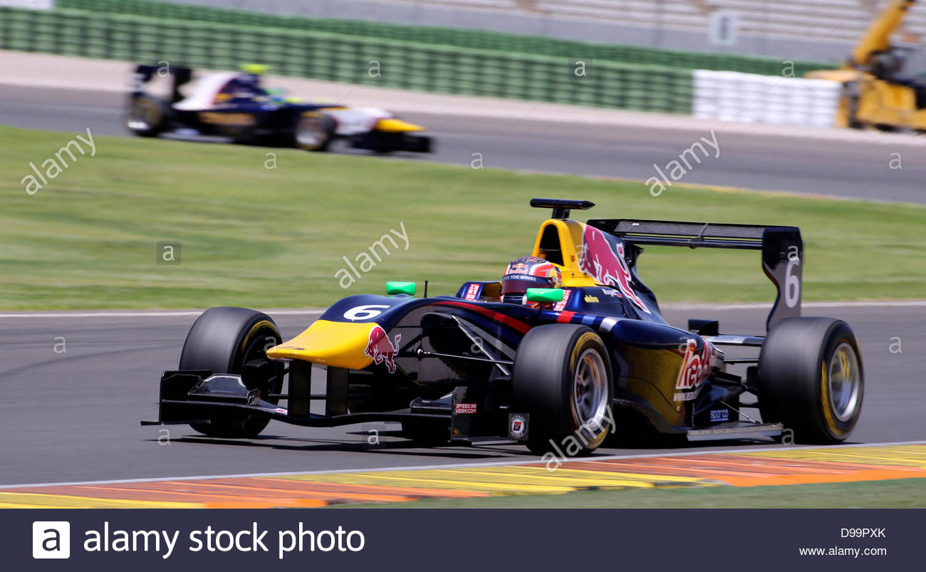 Valencia, Spain. 15th June 2013. MW Arden's Russian driver Daniil Kvyat takes part in the gp3 series qualifying - Stock Image