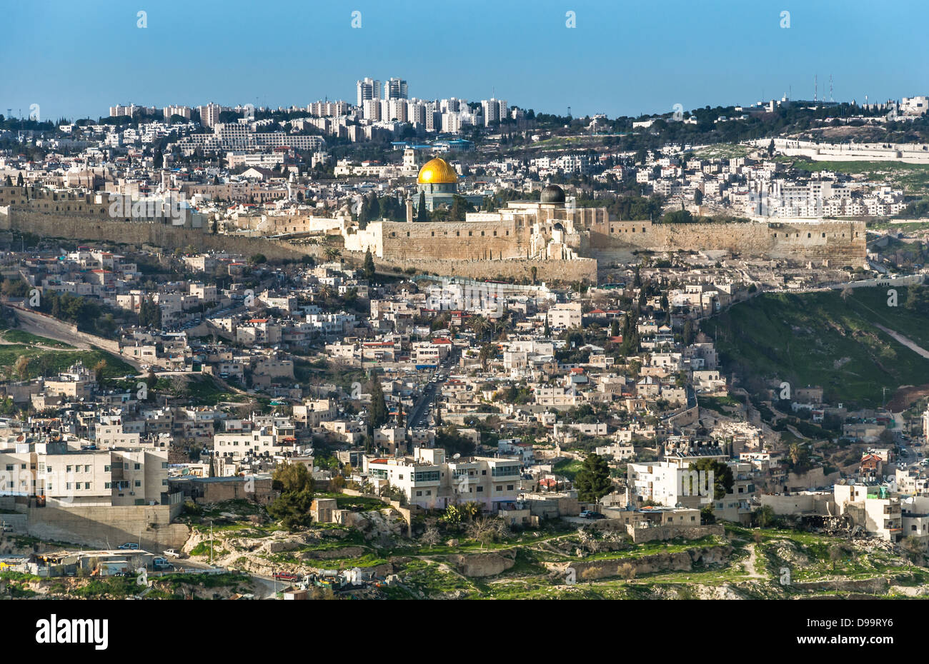 The Temple Mount, also know as Mount Moriah in Jerusalem, Israel  It is located in the Old City in Jerusalem and - Stock Image