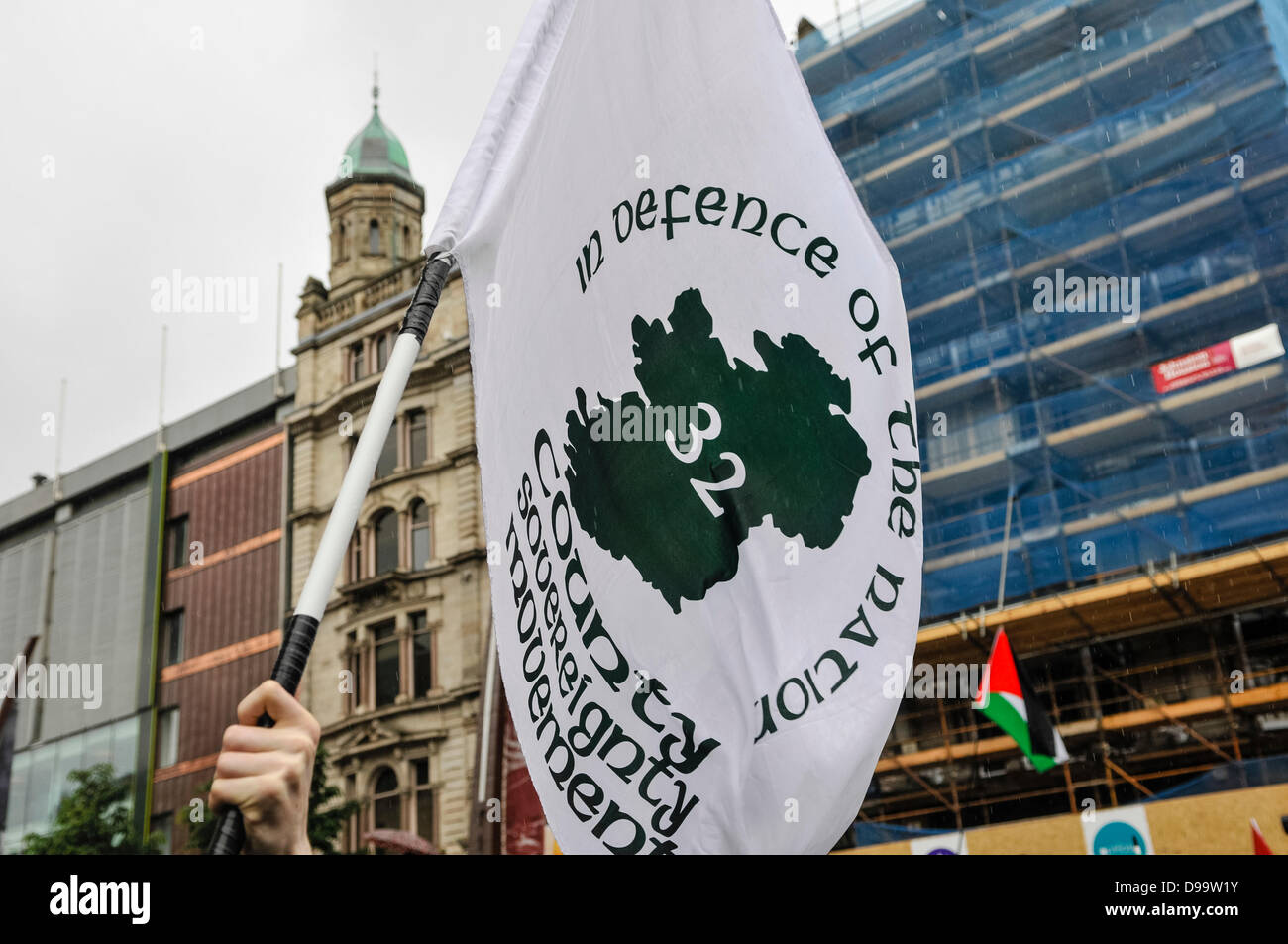 Belfast, Northern Ireland. 15th June 2013. The Irish Republican movement, the 32 County Sovereignty Committee hold - Stock Image