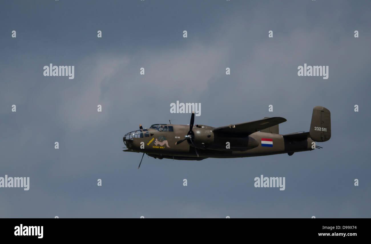 Plane(s) in Dutch Airshow in Volkel 2013 Stock Photo