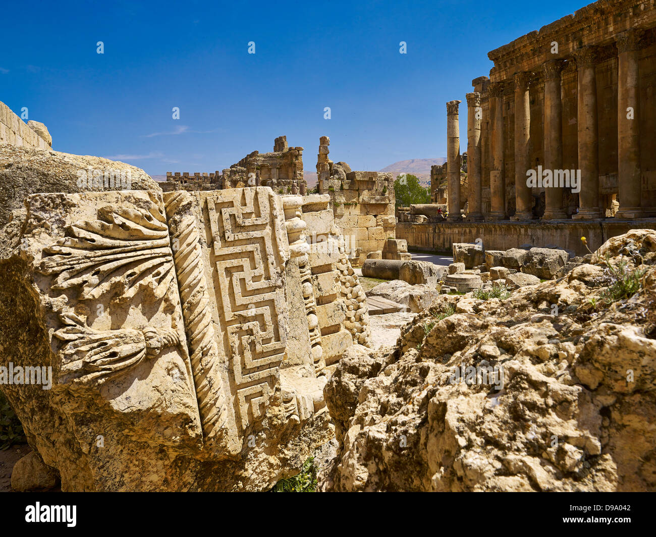 Baalbek Temple Of BacchusStock Photos and Images