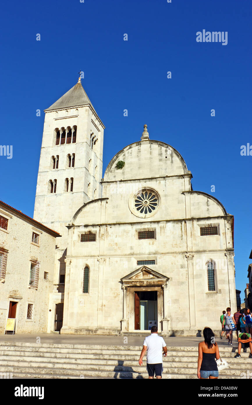 St. Mary's church located in the old city of Zadar opposite St. Donatus Church Stock Photo