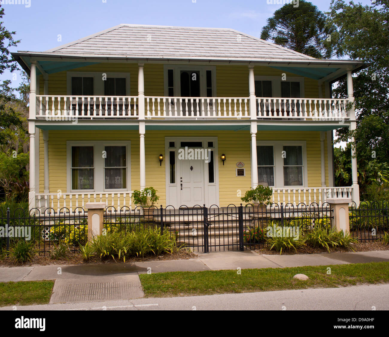 James Wadsworth Rossetter house in the Eau Gallie section of Melbourne Florida in Brevard County - Stock Image