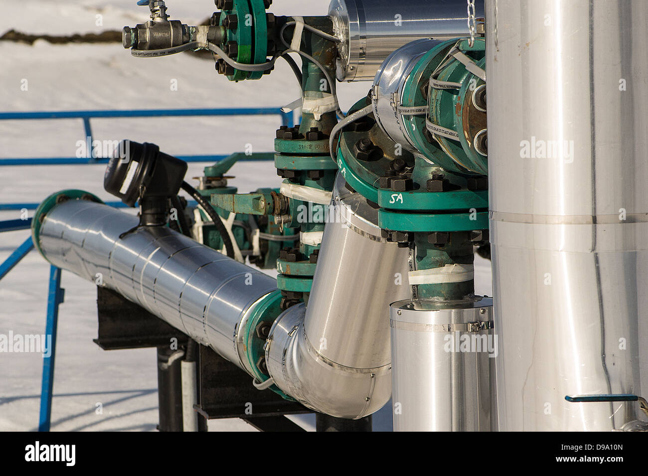Petroleum industry, processes, exploration, extraction, refining, transporting, pipeline, petroleum products, fuel, - Stock Image