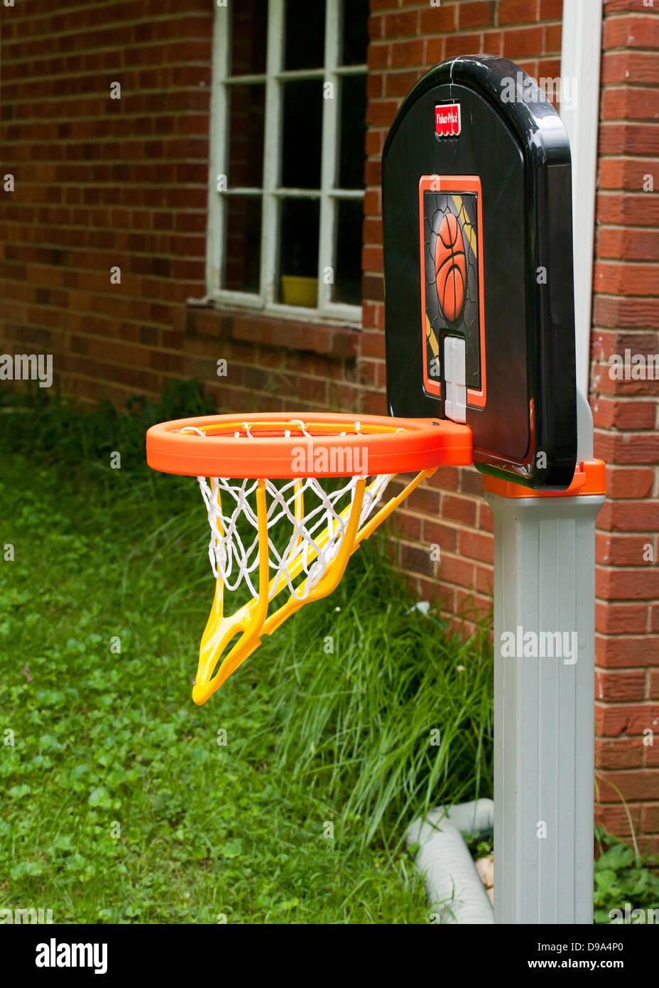 Children's basketball hoop - Stock Image