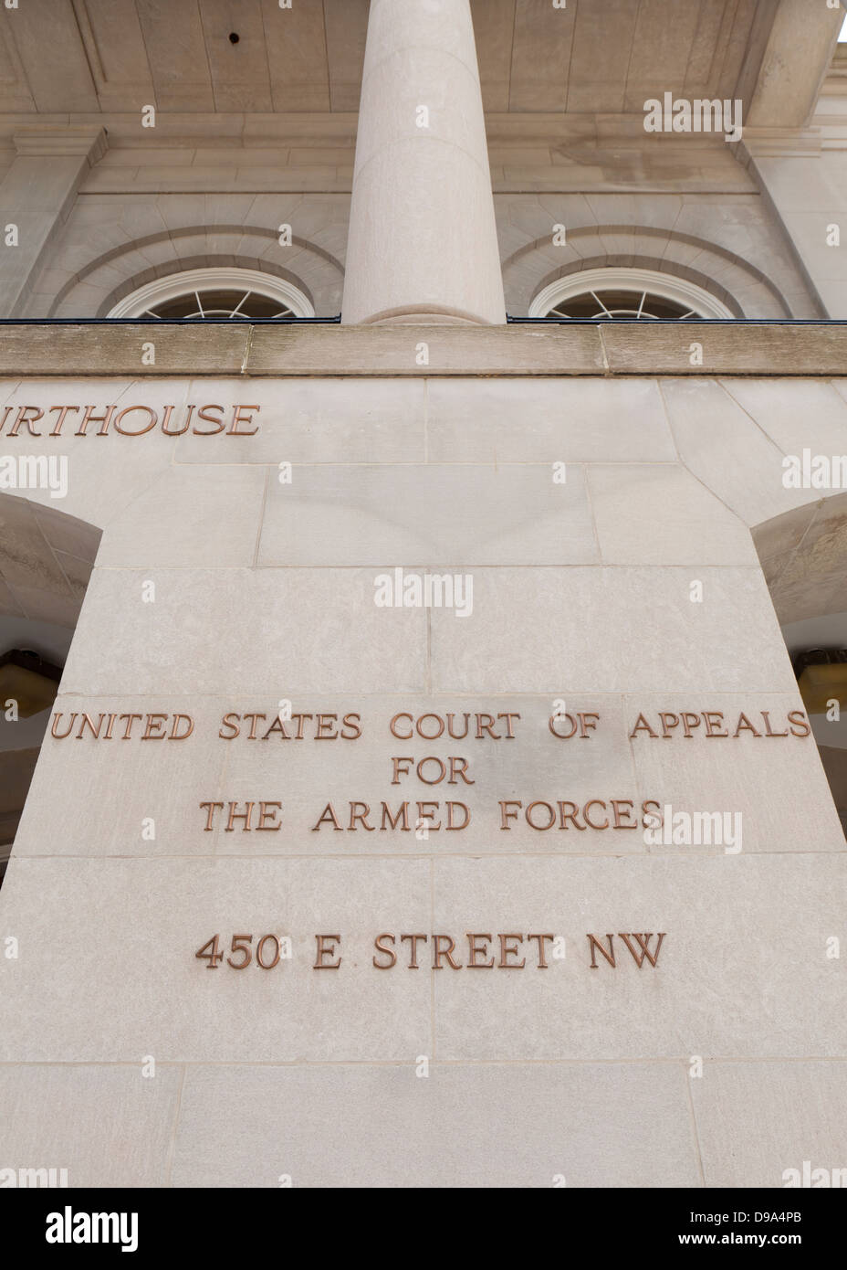 US Court of Appeals for The Armed Forces building - Washington, DC USA - Stock Image