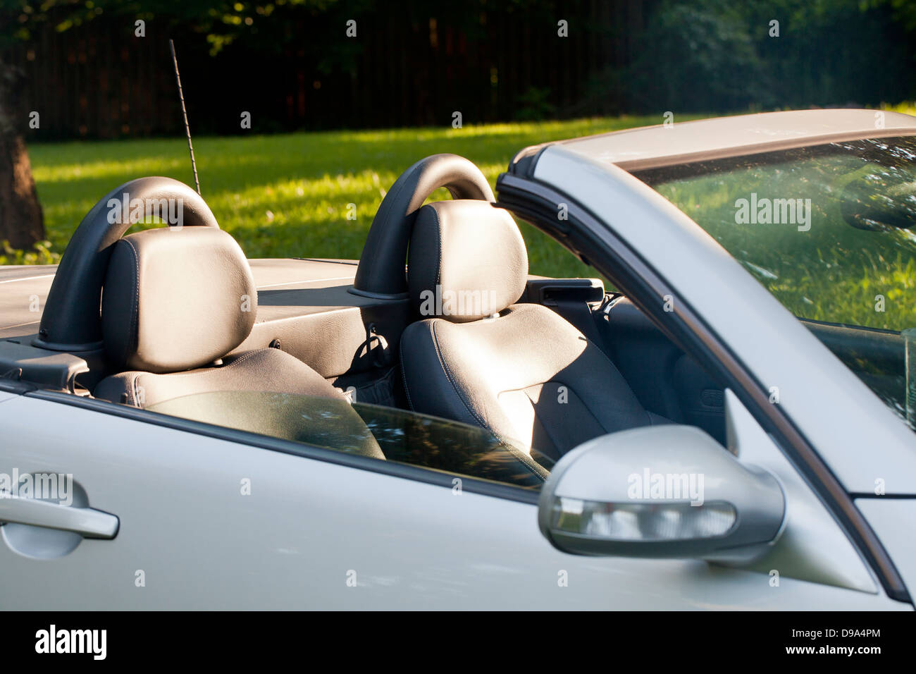 Two seat convertible car - Stock Image