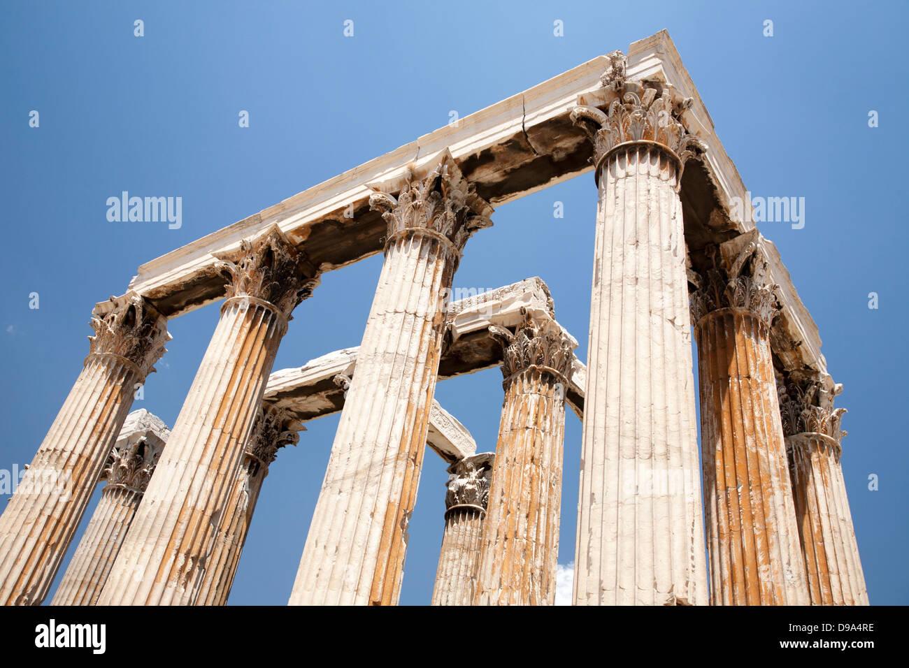 Temple of Olympian Zeus - Stock Image