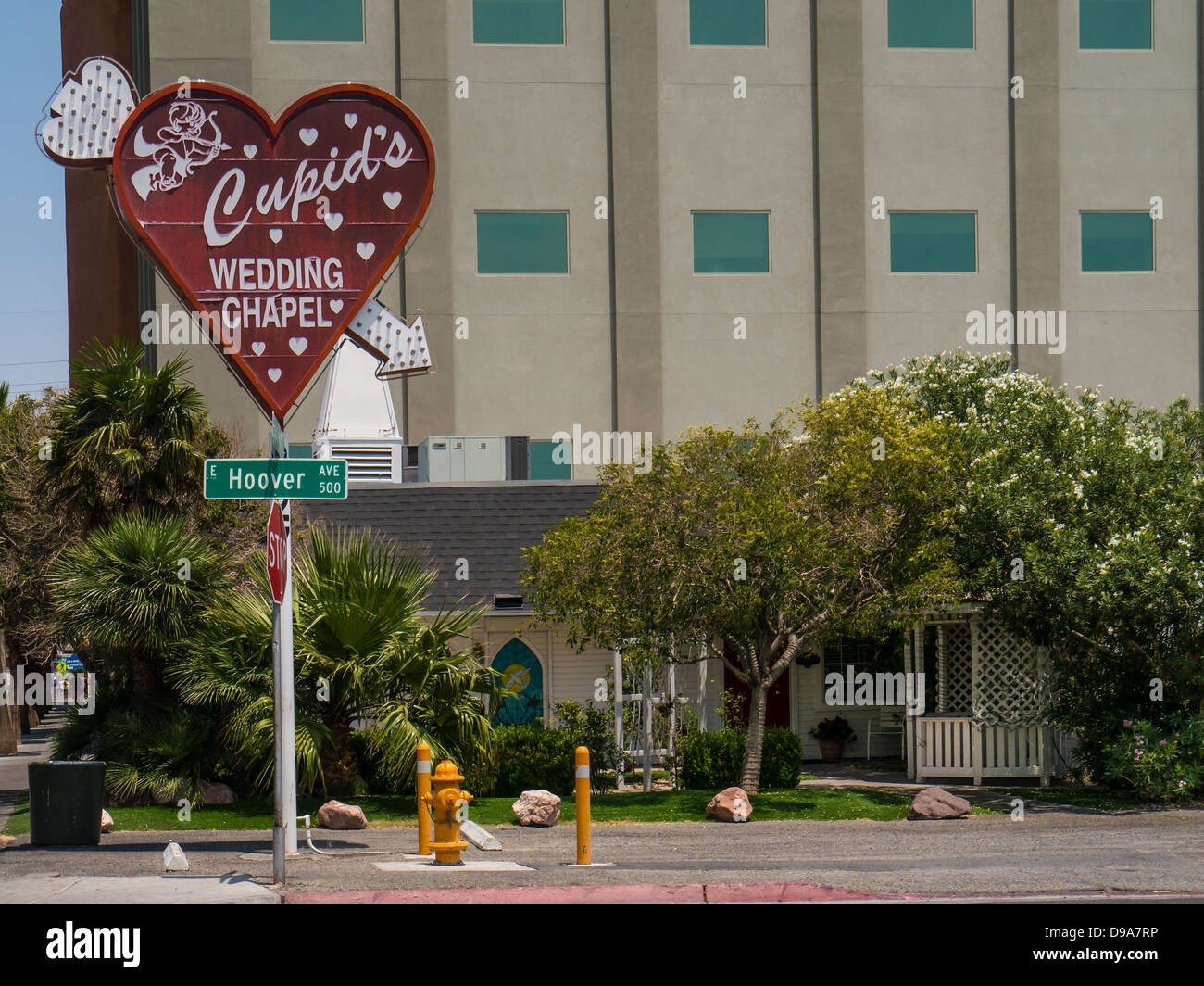 Cupid S Wedding Chapel Downtown Las Vegas Stock Photo