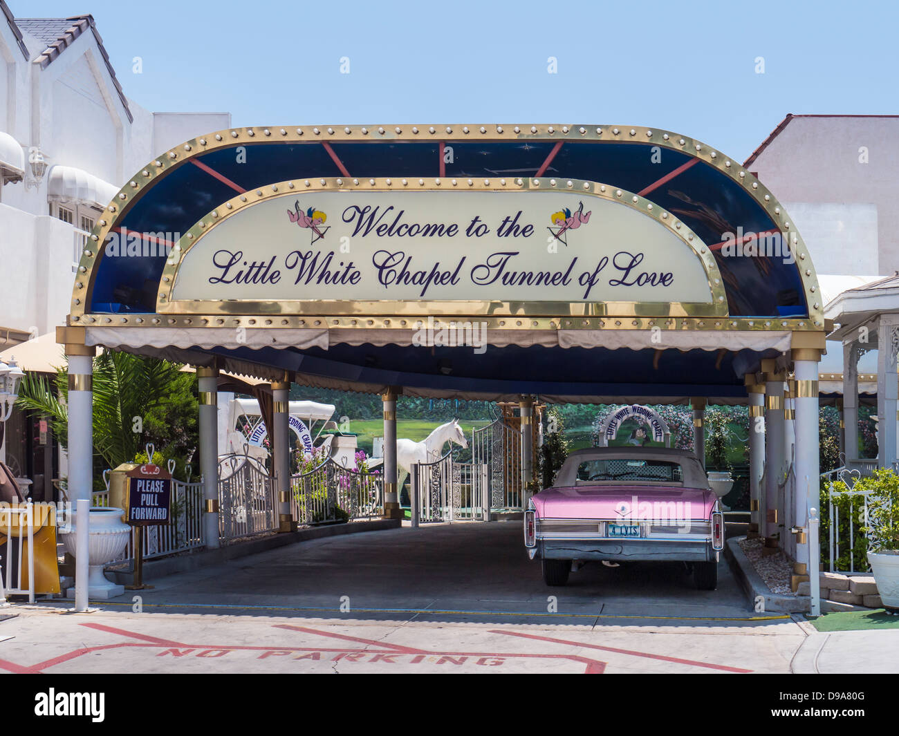 Little White Wedding Chapel.Las Vegas Wedding Chapel Little White Wedding Chapel Stock Photo