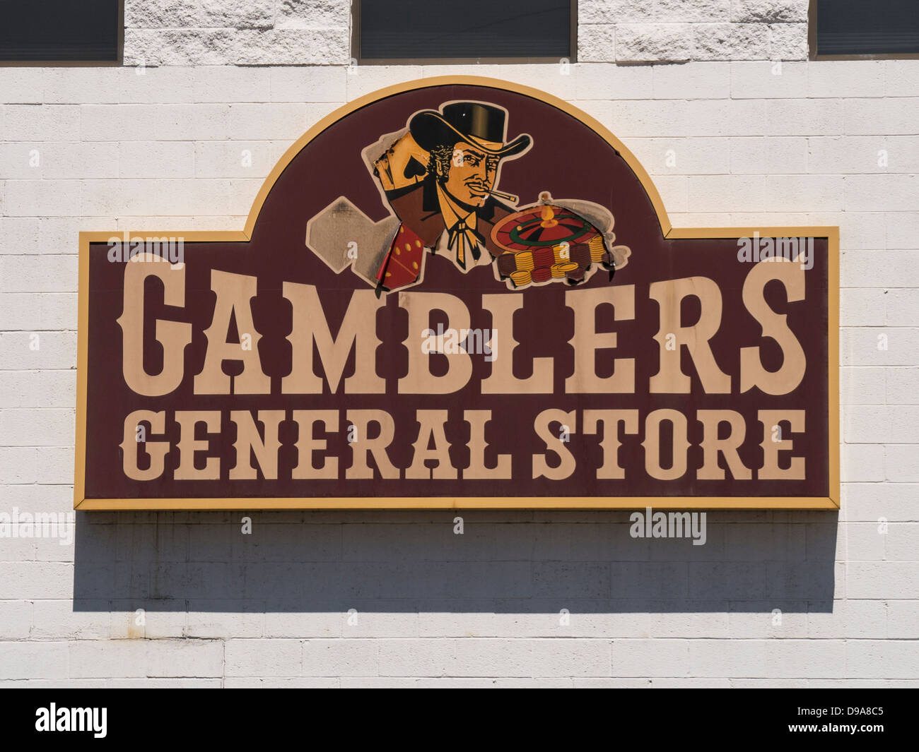 Sign for Gamblers General Store in Downtown Las Vegas, Nevada - Stock Image