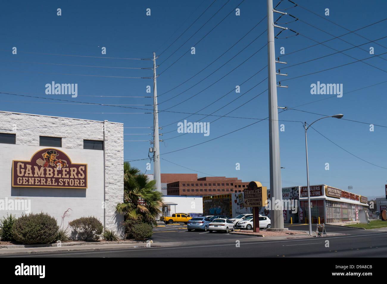 Gamblers General Store in Downtown Las Vegas, Nevada - Stock Image