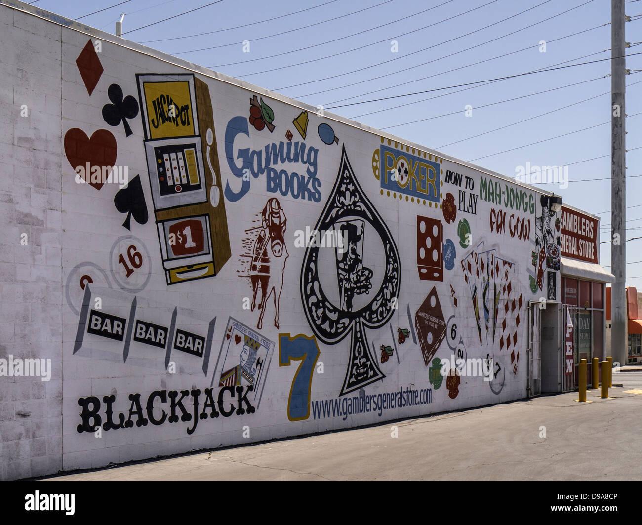 Wall Mural outside Gamblers General Store in Downtown Las Vegas