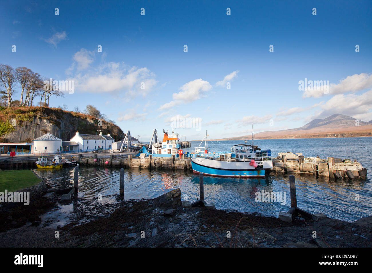 The Sounds of Islay and the Paps of Jura from Port Askaig. - Stock Image