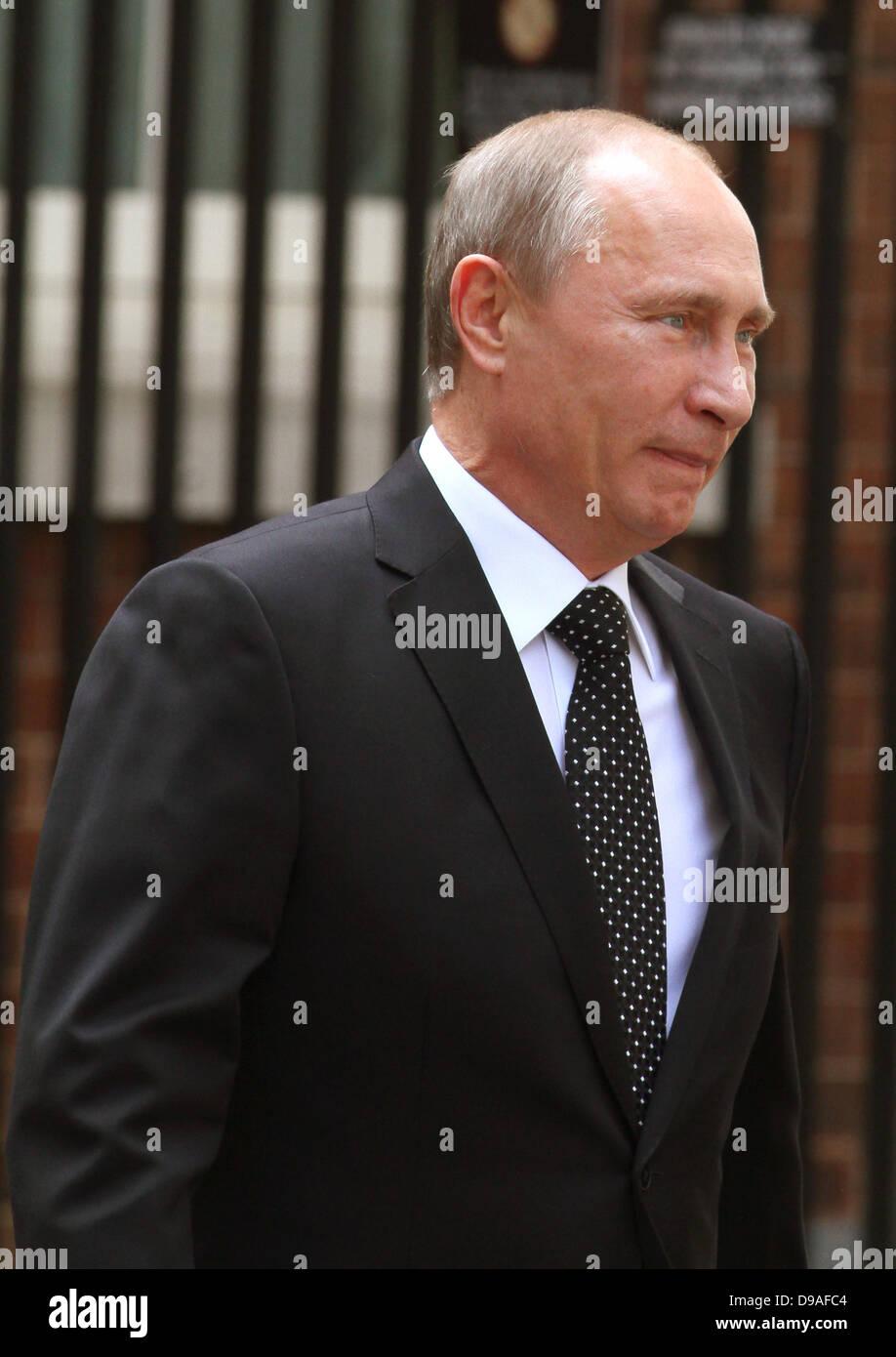 VLADIMIR PUTIN RUSSIAN PRESIDENT 16 June 2013 10 DOWNING STREET  LONDON ENGLAND - Stock Image