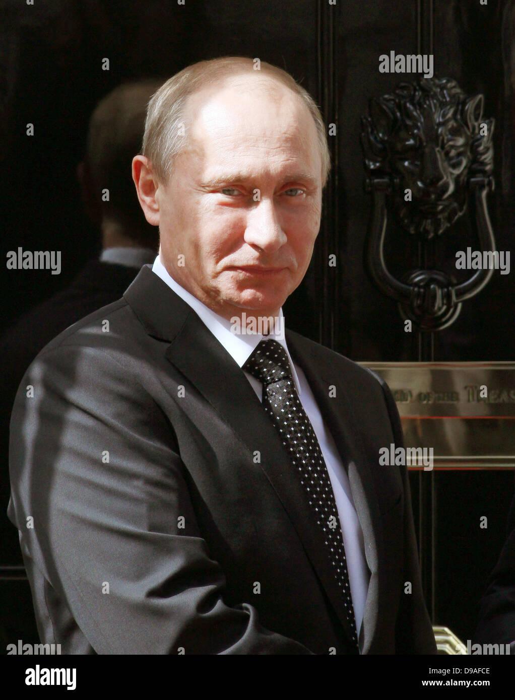 VLADIMIR PUTIN RUSSIAN PRESIDENT 16 June 2013 10 DOWNING STREET  LONDON ENGLAND Stock Photo