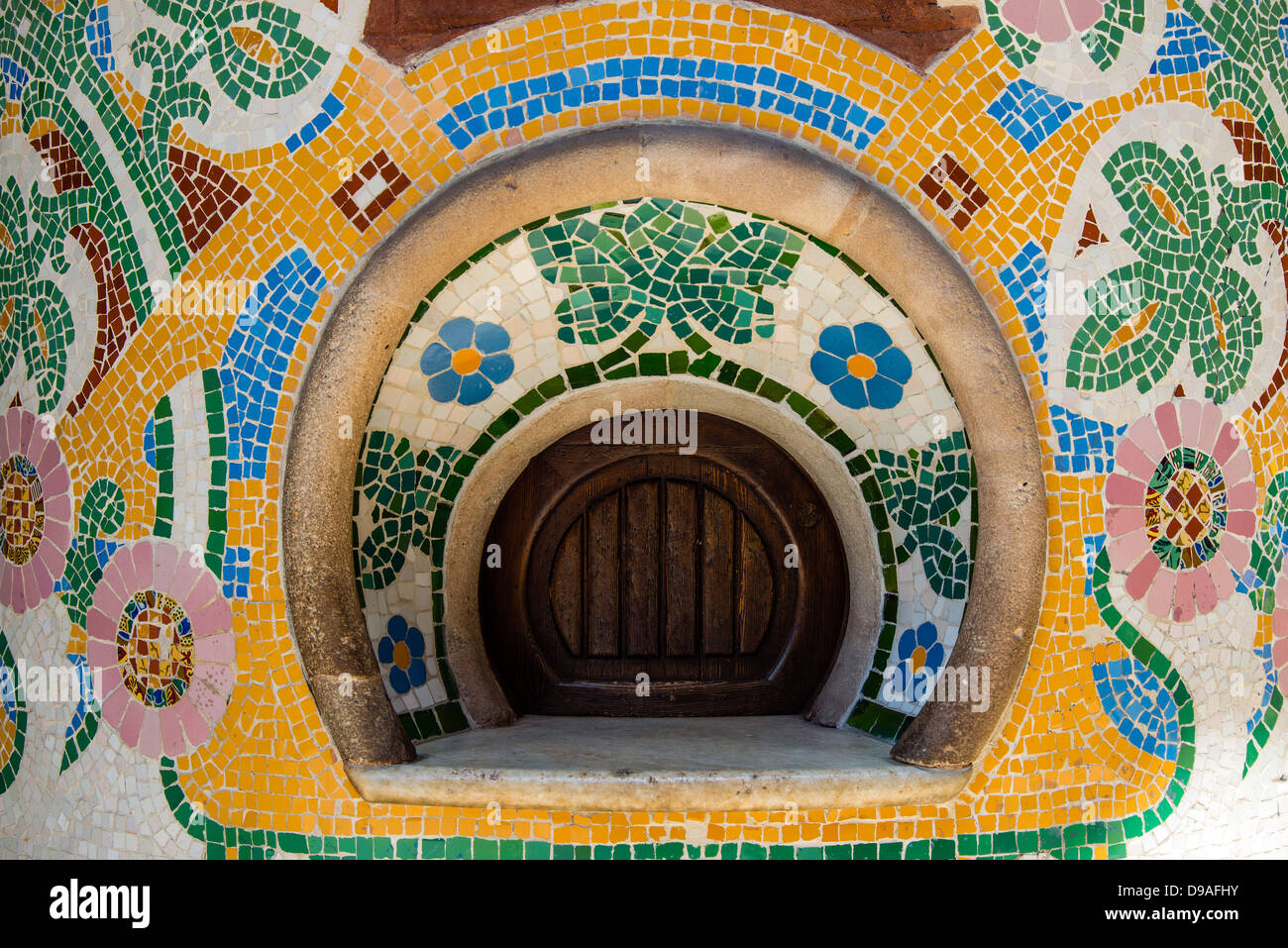Ticket box, Palau de la Musica Catalana (Palace of Catalan Music), Barcelona, Catalonia, Spain - Stock Image