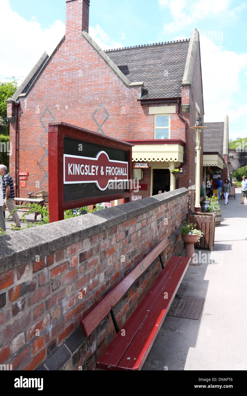 Kingsley and Froghall railway station, Staffordshire, England. - Stock Image