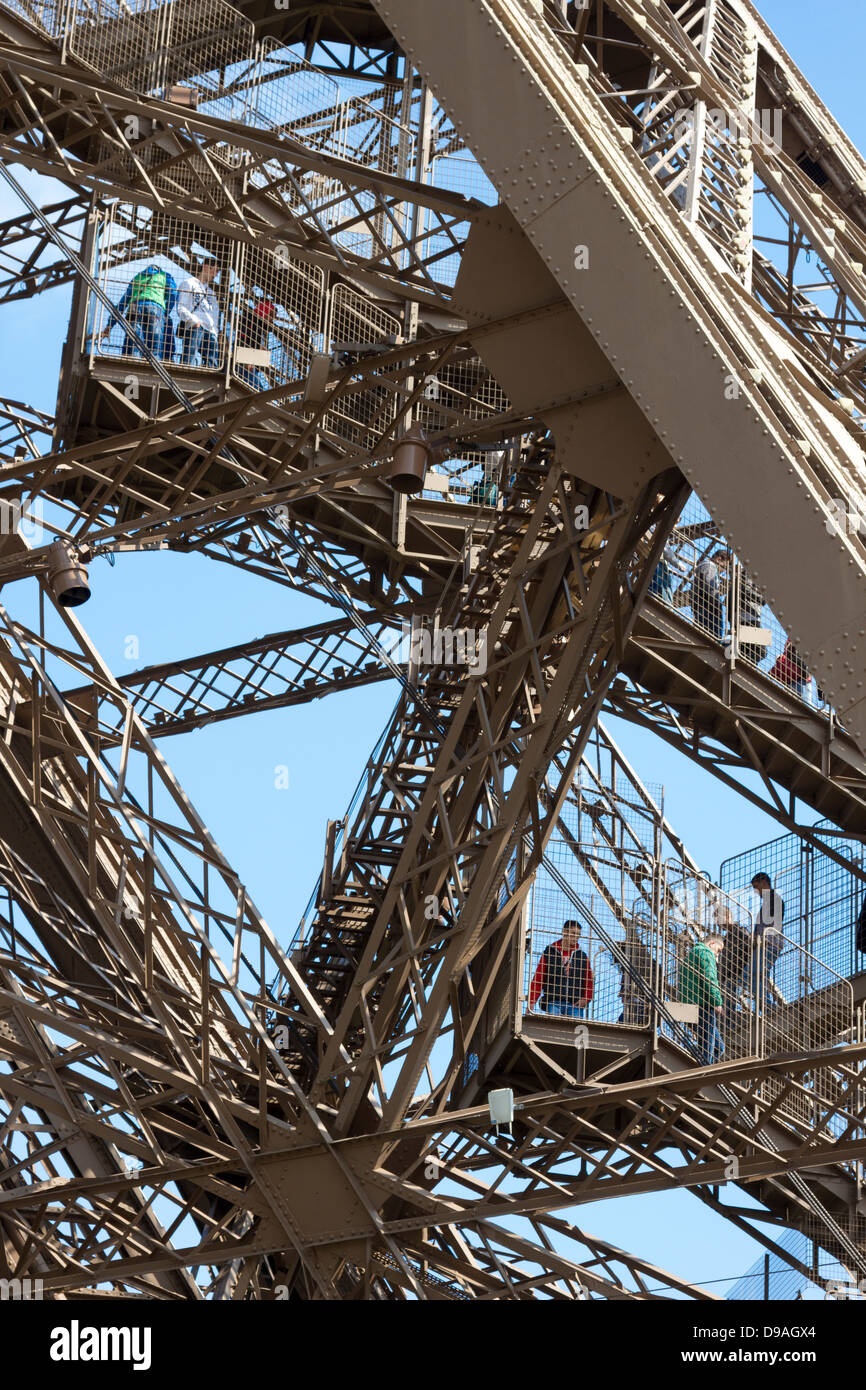 Eiffel Tower Stairs : Eiffel tower stairs stock photos