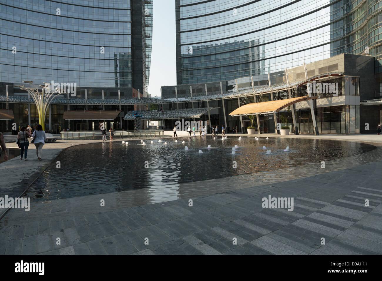 Milan, Porta Nuova, Gae Aulenti square,Lombardy, Italy - Stock Image