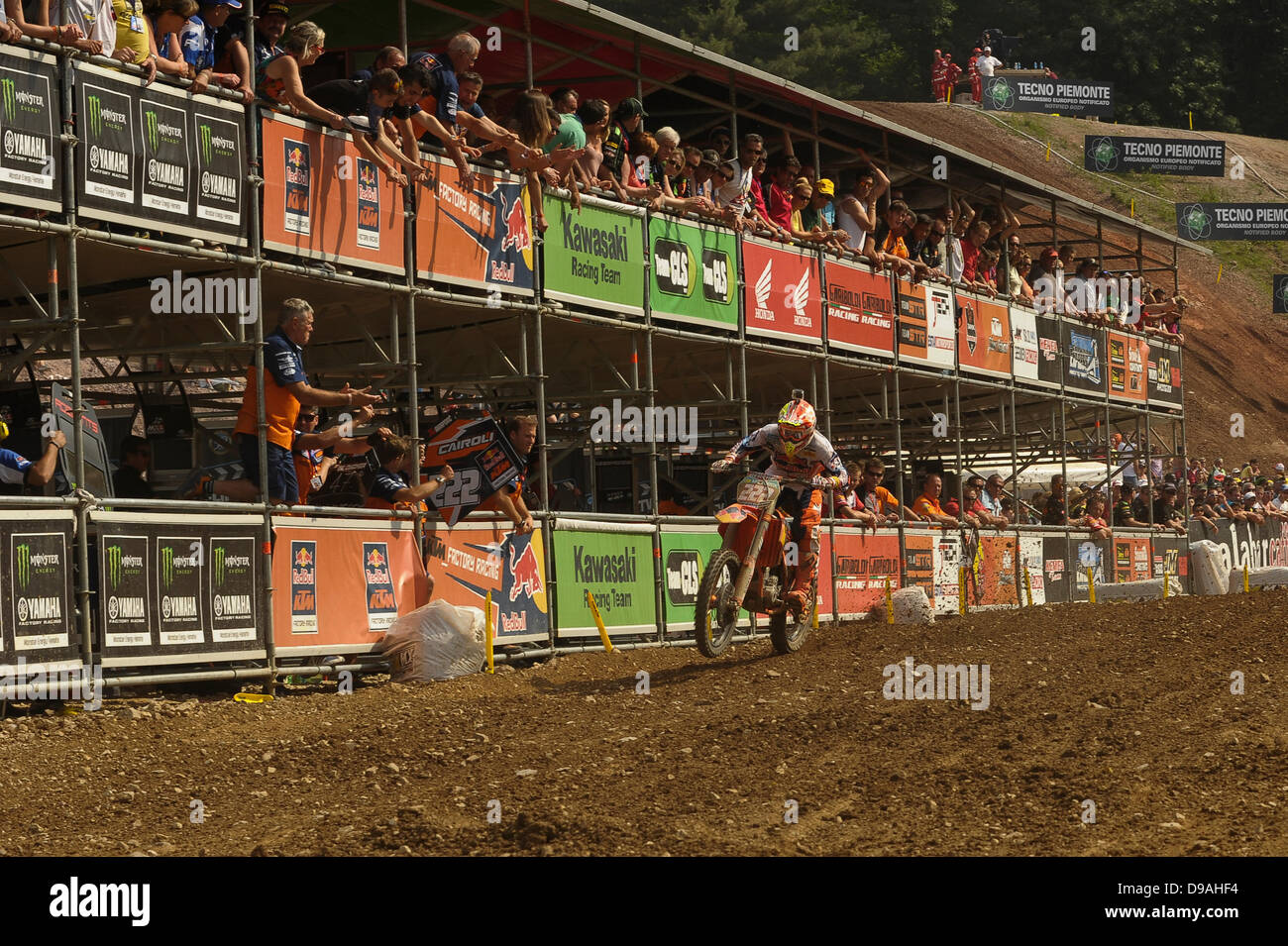 Maggiora, Italy. 16th June, 2013. Number 222 Antonio Cairoli during the MX1 World Motocross Championships from Maggiora. - Stock Image