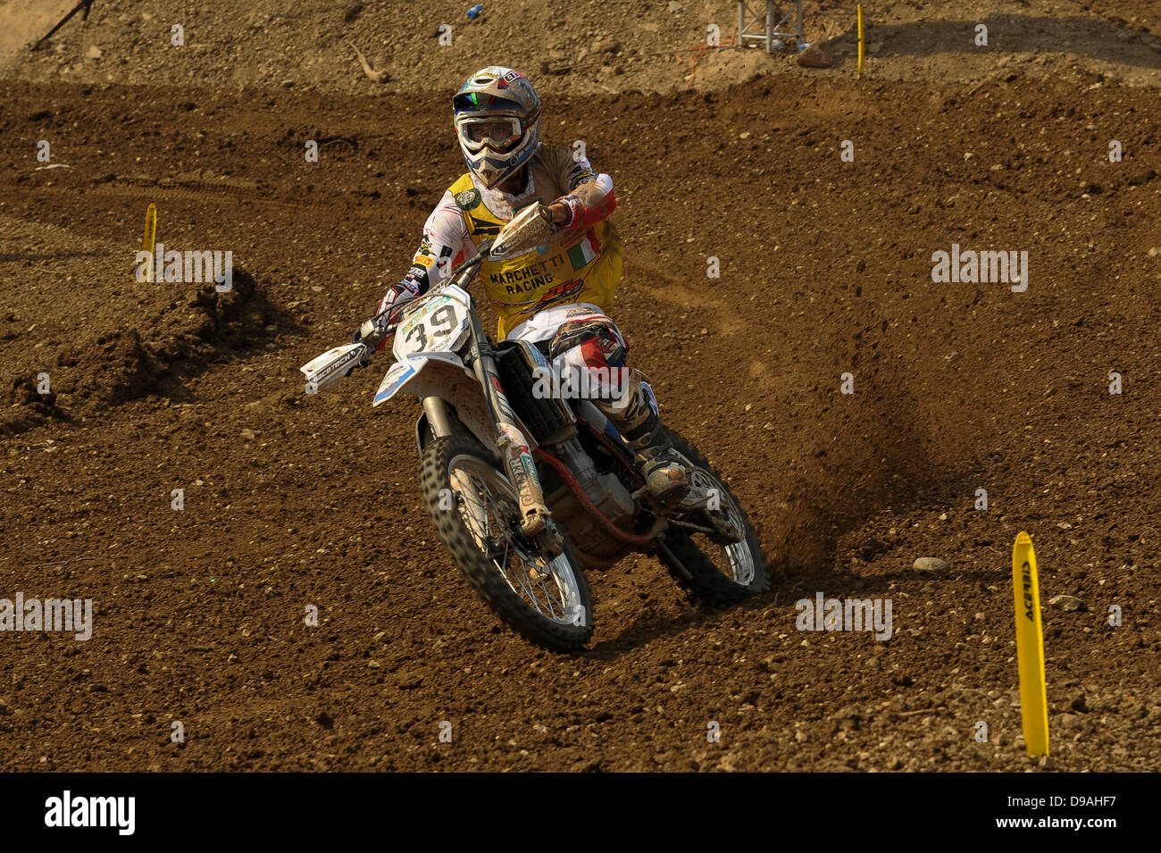 Maggiora, Italy. 16th June, 2013. Number 39 Davide Guarneri during the MX1 World Motocross Championships from Maggiora. - Stock Image