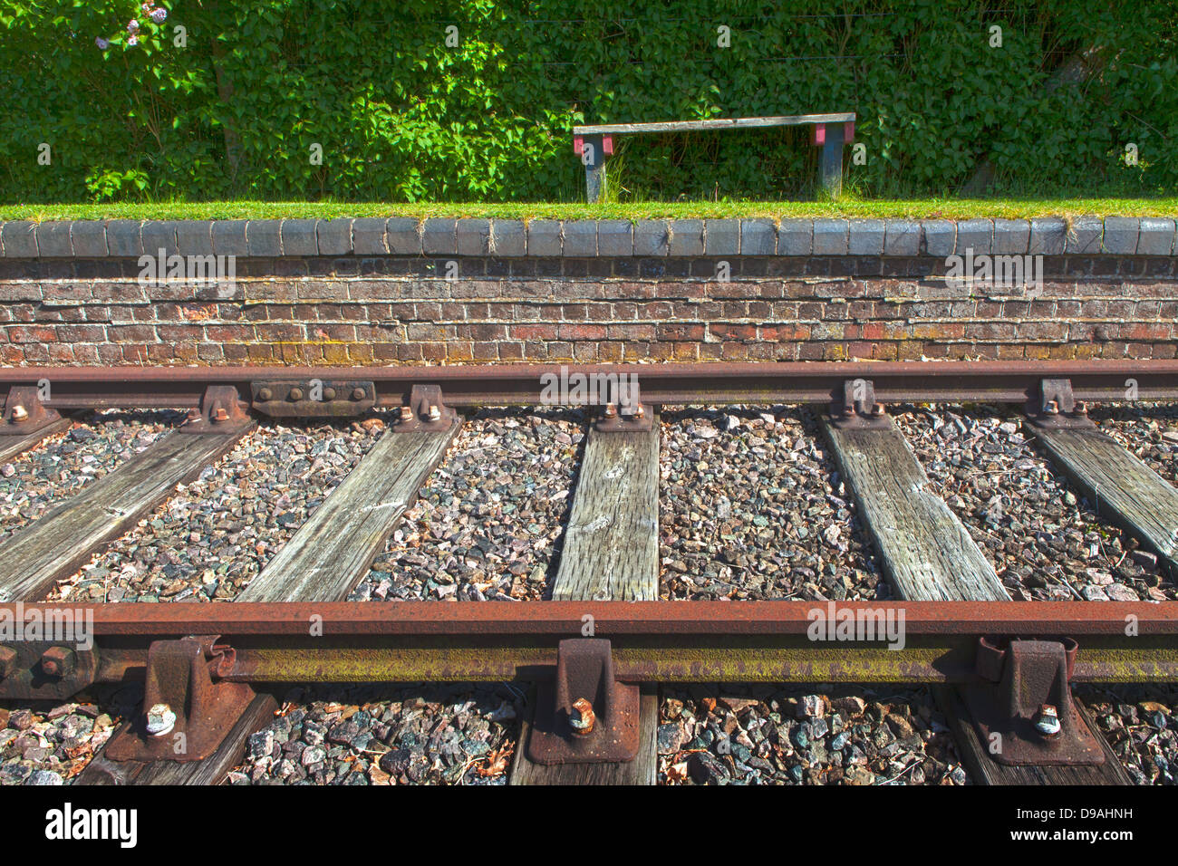 Disused railway stations, line - Stock Image