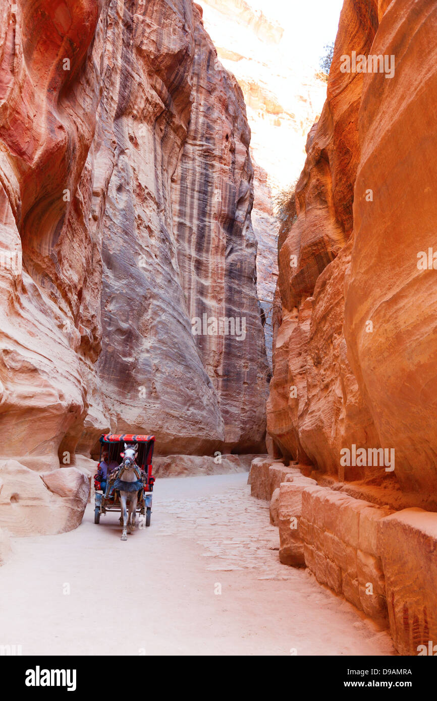 Al-Siq, Petra, Jordan - Stock Image