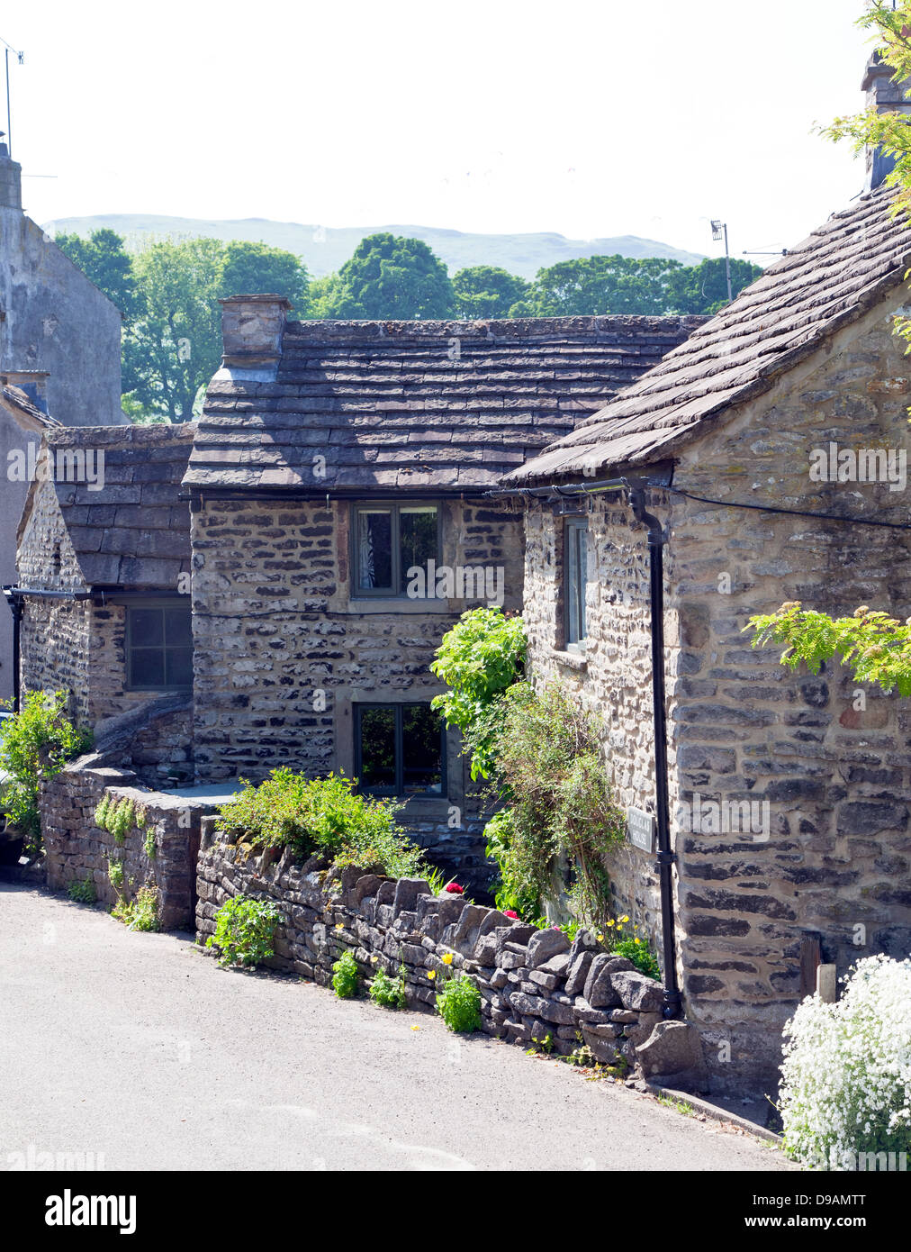 Local Architecture Castleton Peak District Derbyshire UK - Stock Image