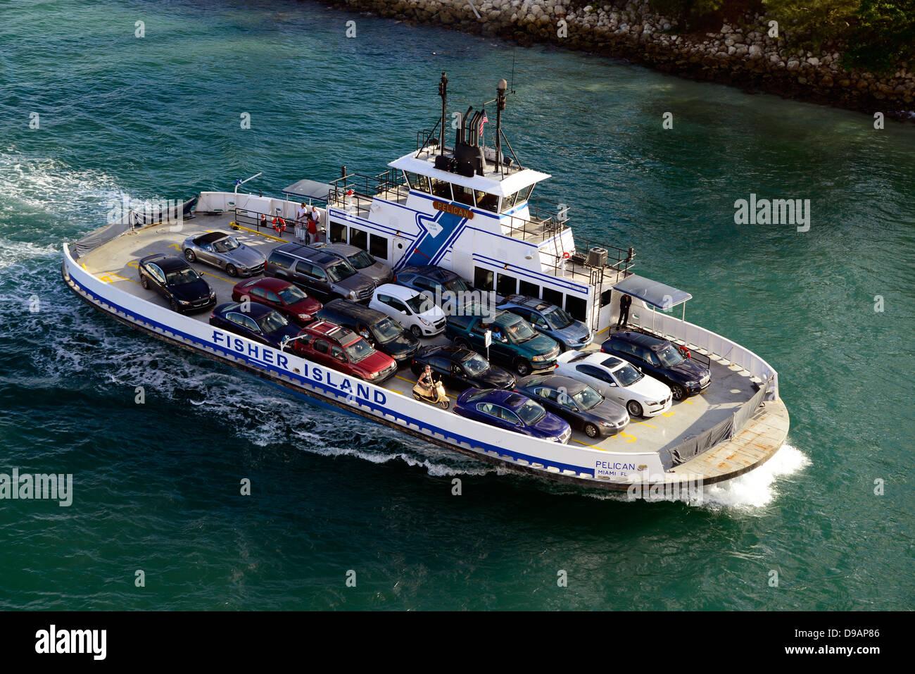 Fisher Island Car Ferry Miami Florida FL US Atlantic Stock Photo: 57400006 - Alamy