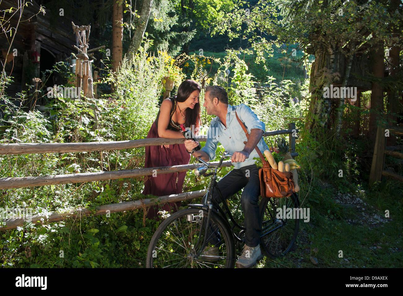 Austria Mature Couple Conversing In Stock Photos Austria Mature