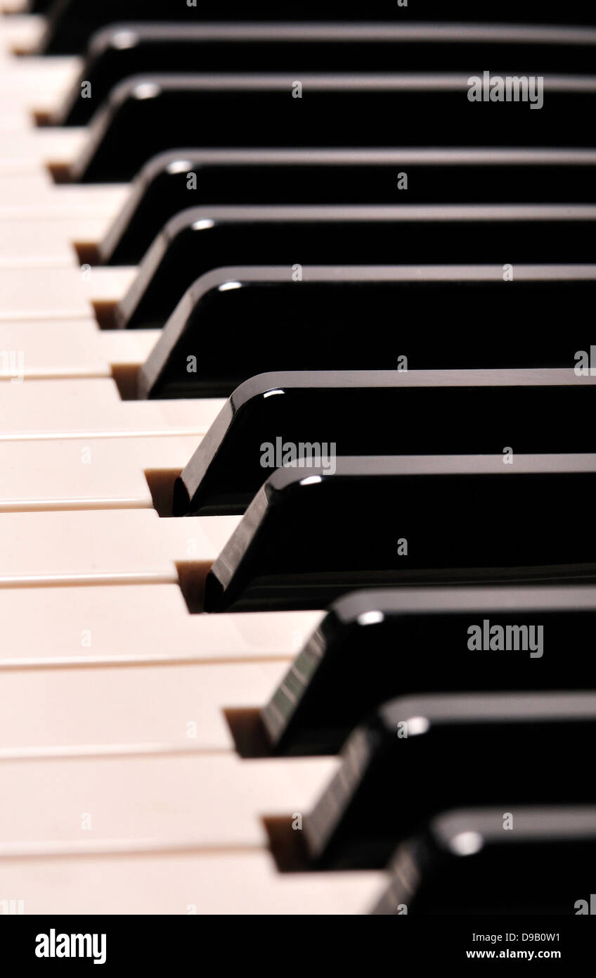 Keyboard of an electric piano - Stock Image
