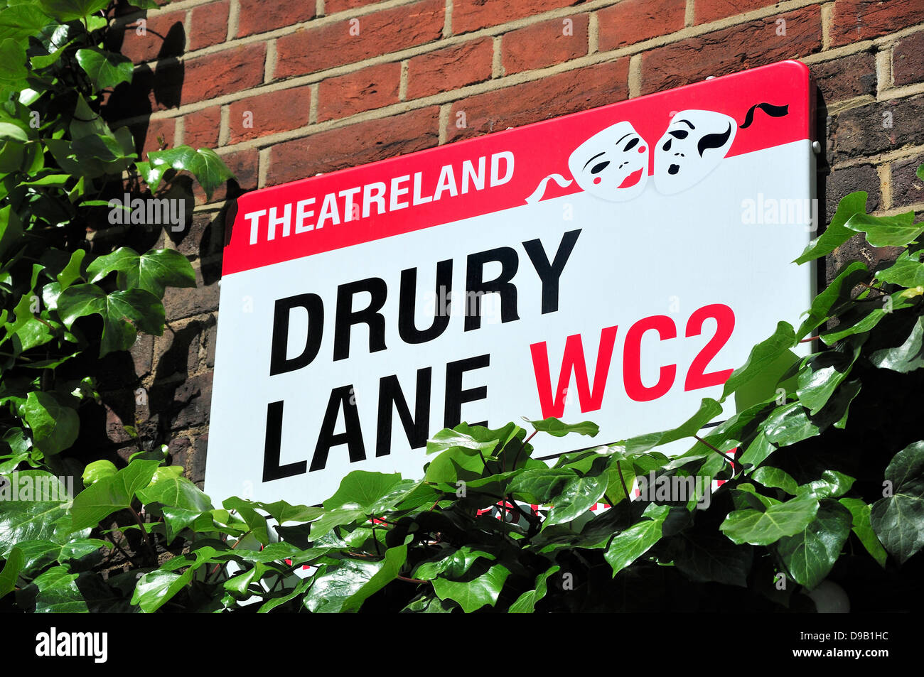 London, England, UK. Drury Lane street sign, Theatreland - Stock Image