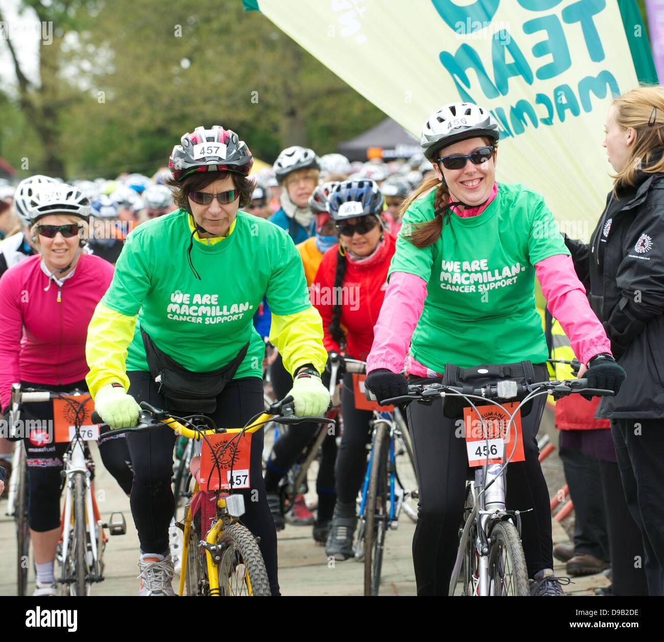 Cycletta  all women charity bike ride in Cheshire Stock Photo
