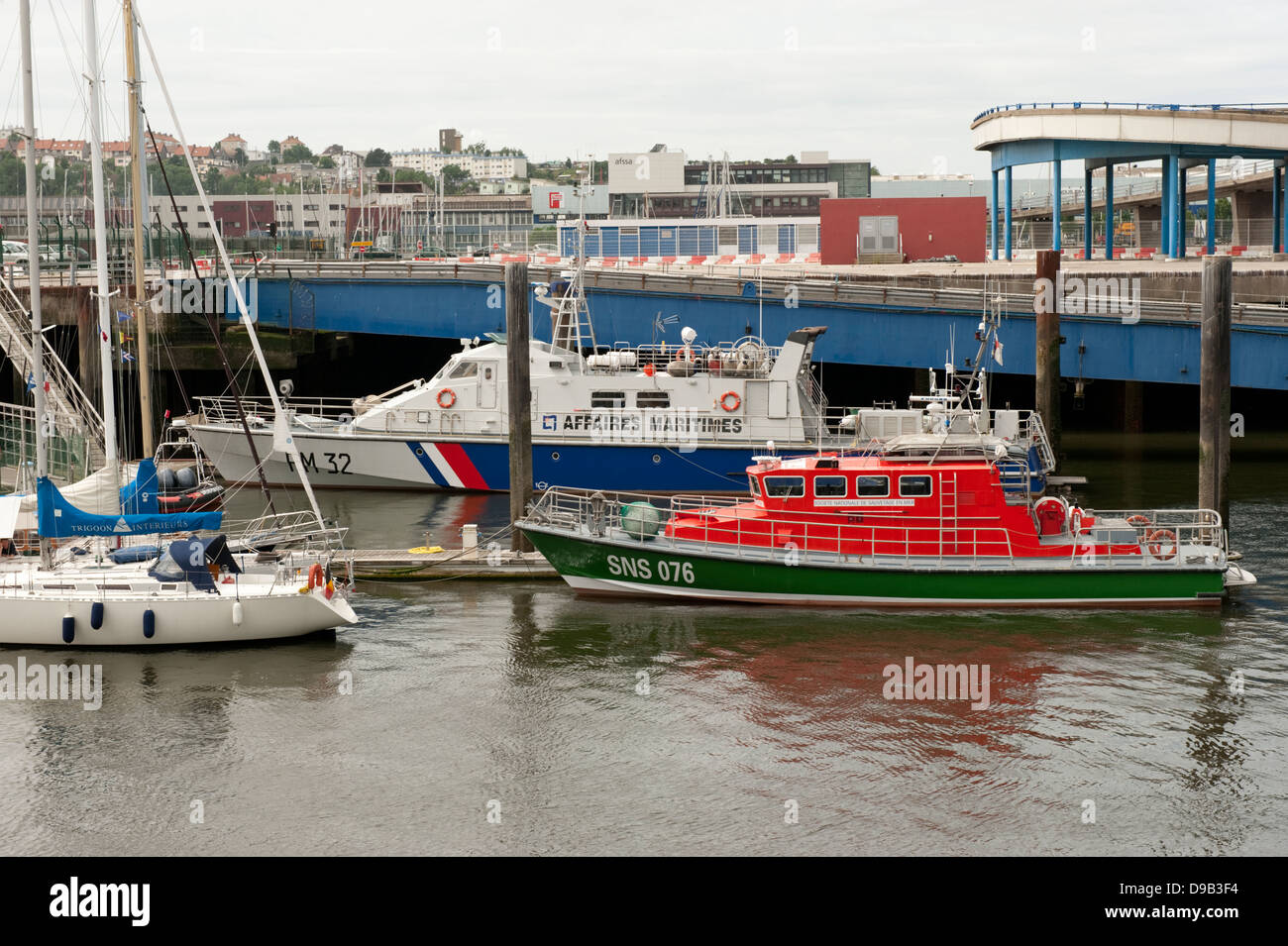 Maritime Fisheries Protection Vessel Boulogne-sur-Mer France Europe - Stock Image