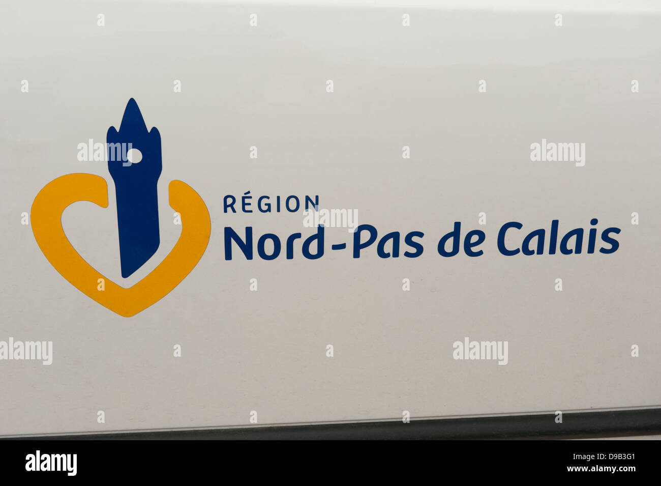 Nord-Pas De Calais Region Sign Boulogne-sur-Mer France Europe - Stock Image