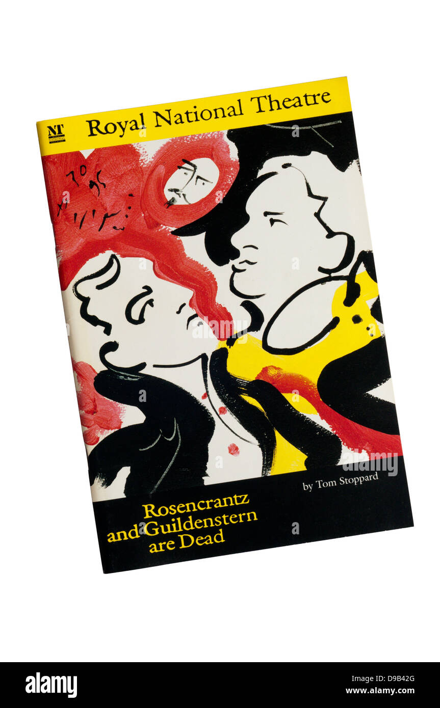 Programme for the 1995 production of Rosencrantz and Guildenstern are Dead at The Lyttelton Theatre. - Stock Image