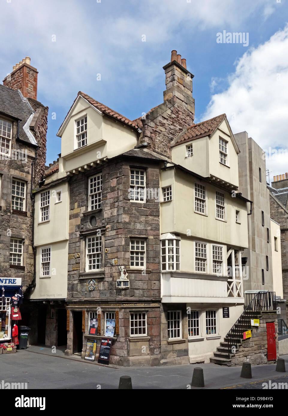 John Knox House & the Scottish Storytelling Centre In High Street The Royal Mile Edinburgh Scotland Stock Photo