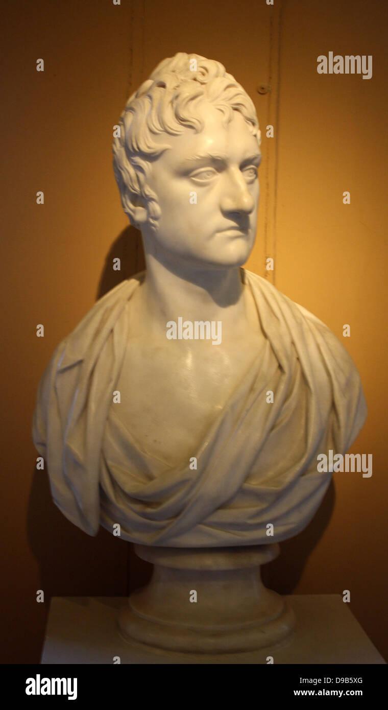 Joseph Nollekens (1737-1823) Bust of Charles Pelham later 1st earl of Yarborough (1781-1846), son of one of Nollekens's - Stock Image