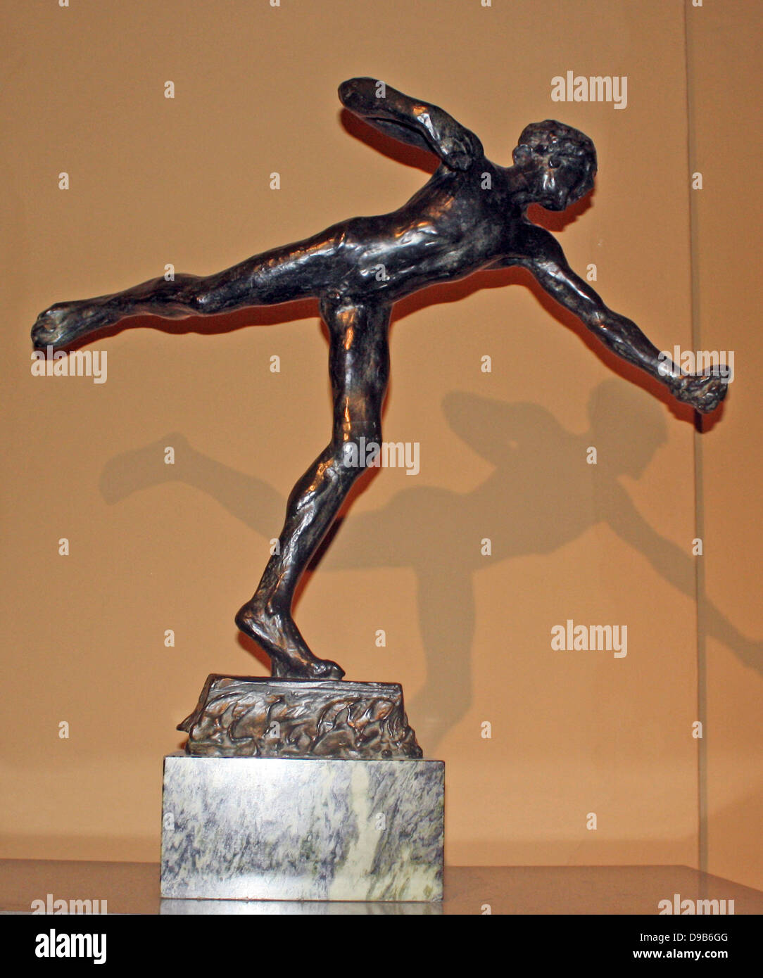 Alfred Gilbert (1854-1934).  This is a bronze cast of the original clay model for the statue of Eros to be found - Stock Image