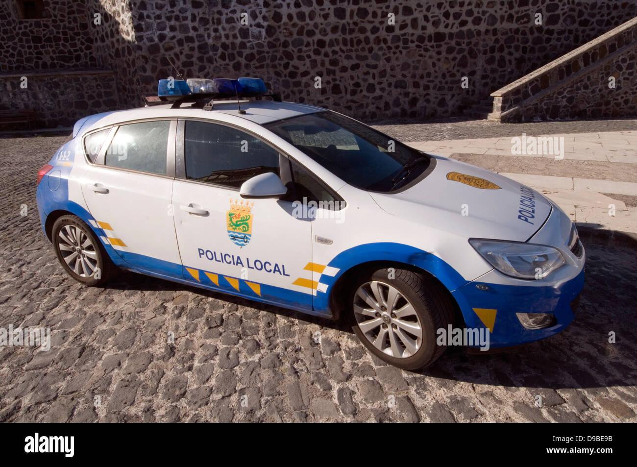 Spanish Police Car Spain Opel Vauxhall Astra Kadet Cars Law Stock