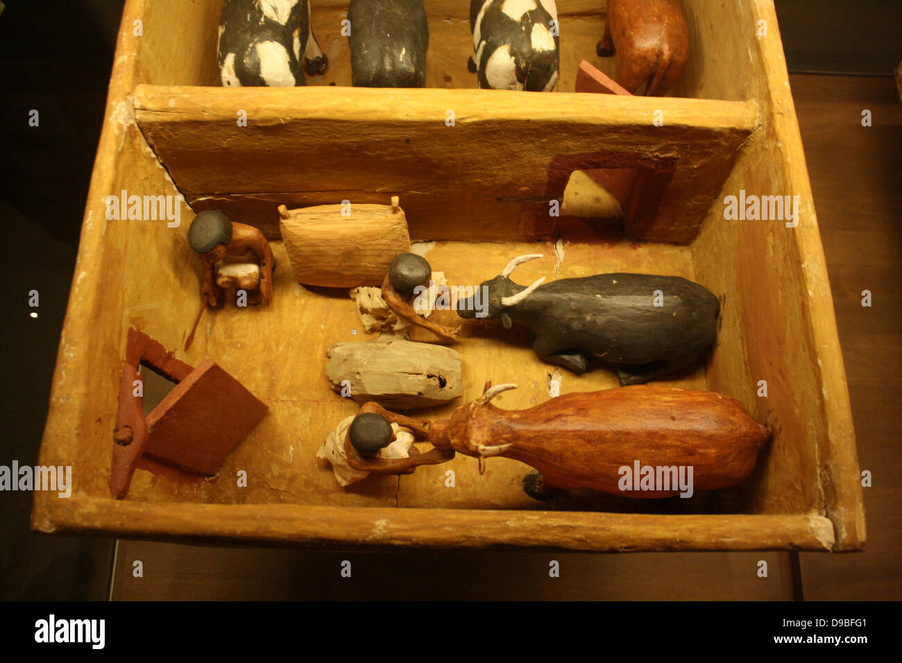 Slaughter House, Egyptian, Dynasty 11 c. 2009-1998 BC. - Stock Image