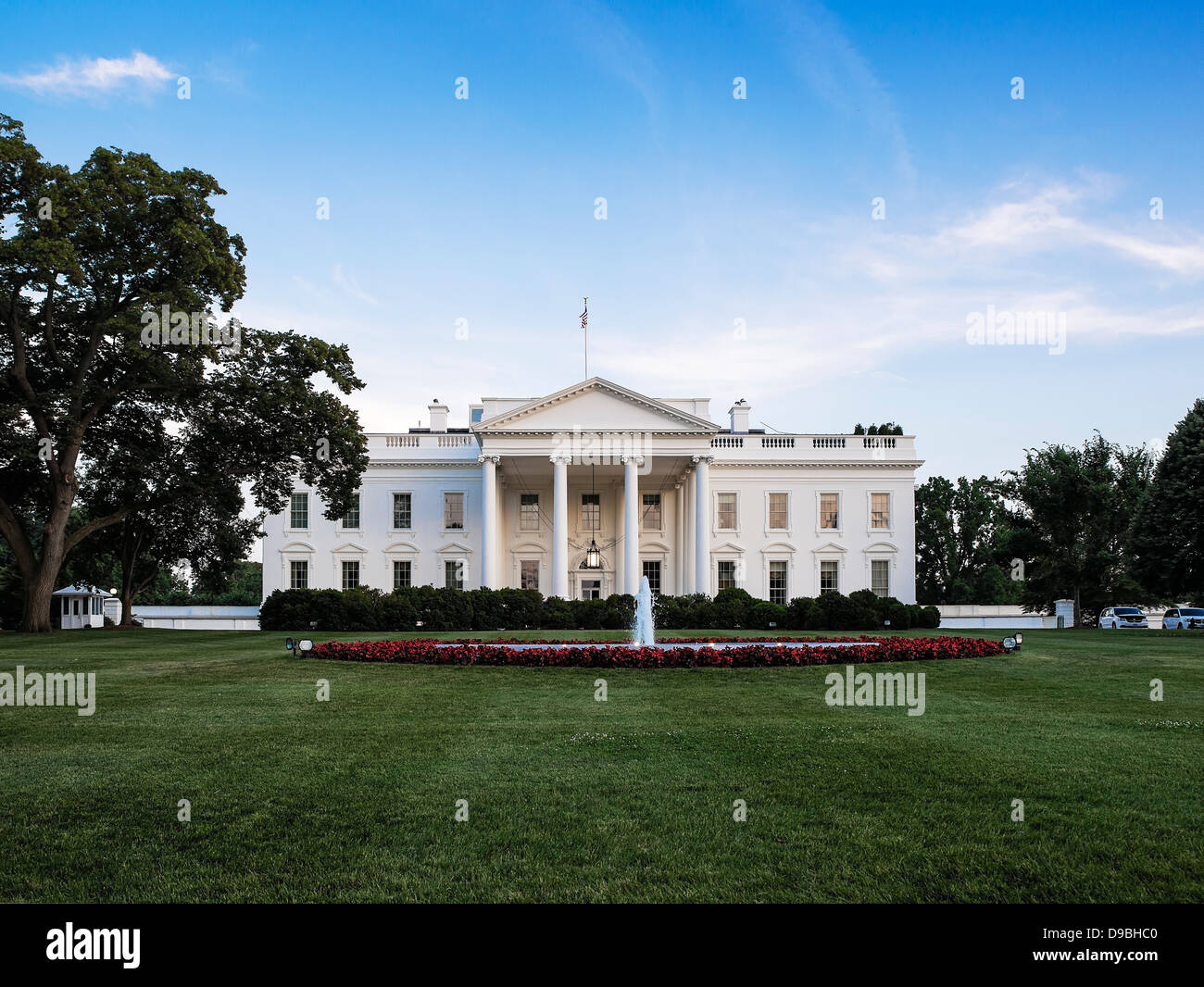 The White House, home of the United States President, Washington D.C., USA - Stock Image