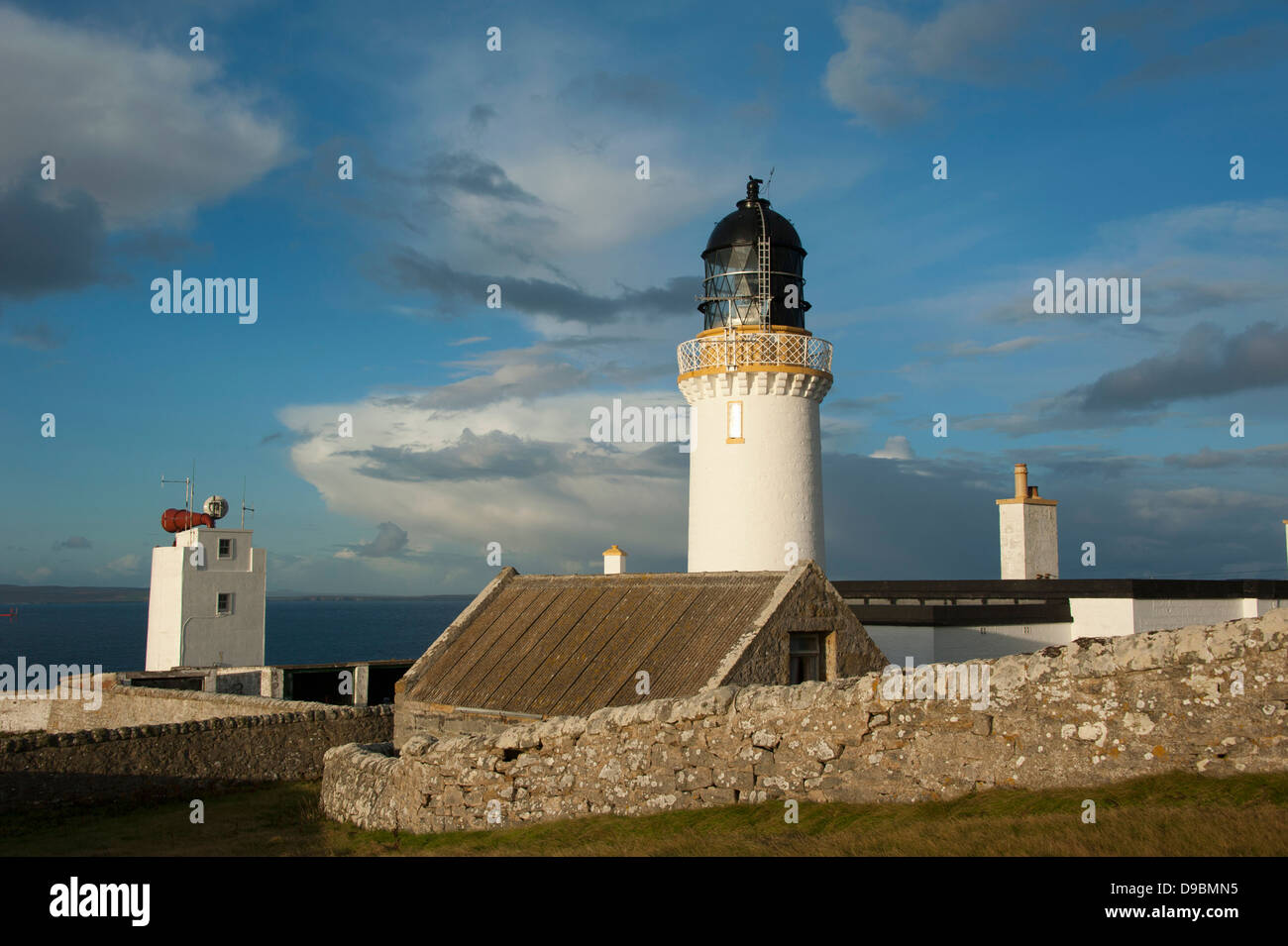 Lighthouse, Dunnet Head, Scotland, Great Britain, Europe, most northerly point of mainland Britain, Easter Head - Stock Image