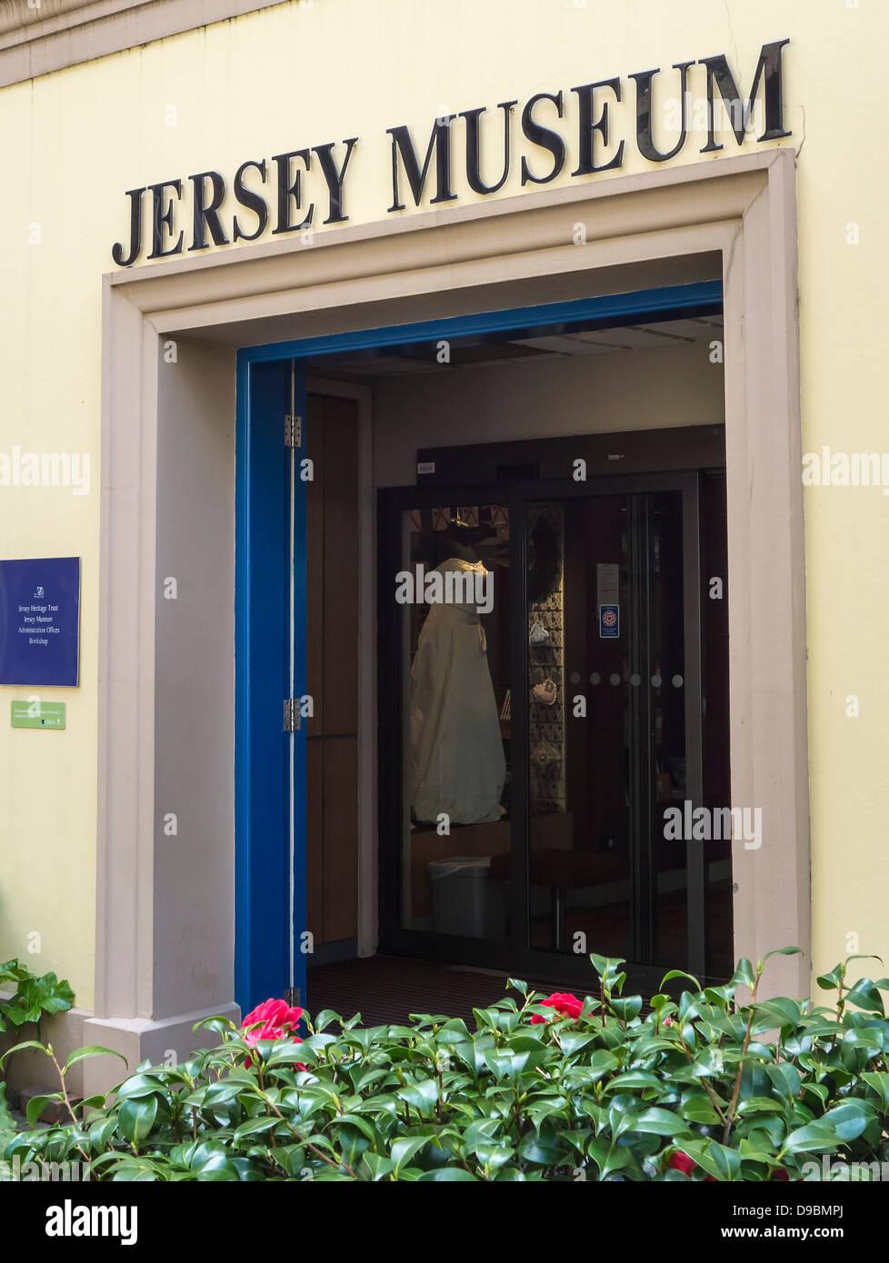 Jersey Museum, Entrance, St. Helier, Channel Islands - Stock Image