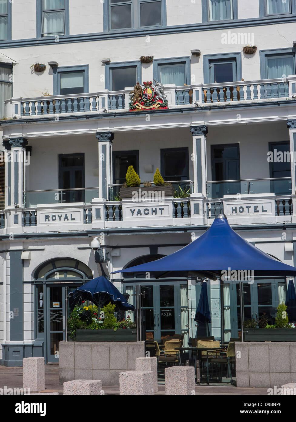 Jersey, Royal Yacht Hotel, St. Helier, Channel Islands - Stock Image