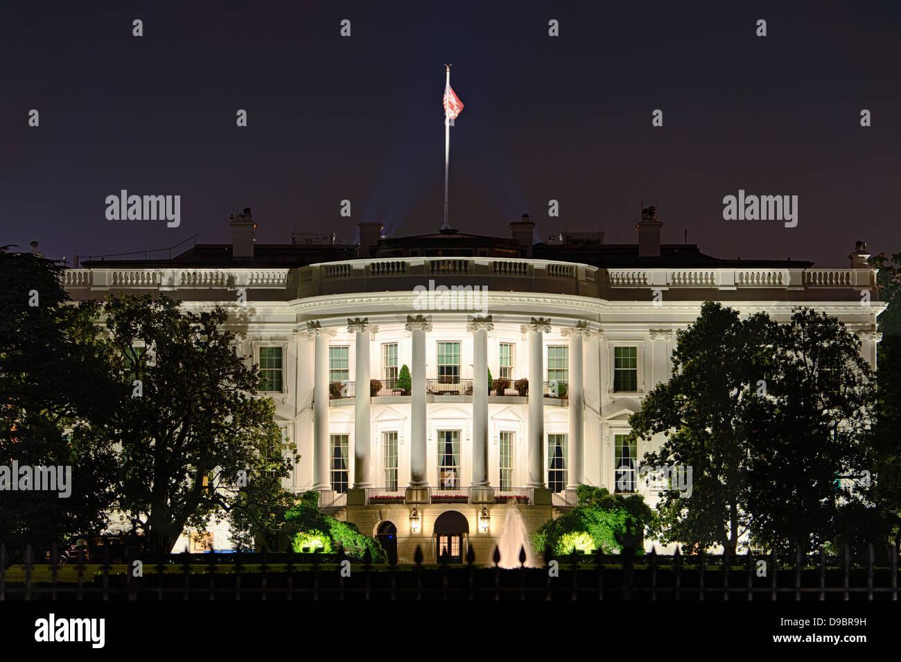 The White House, home of the United States President, Washington D.C., USA - Stock Image