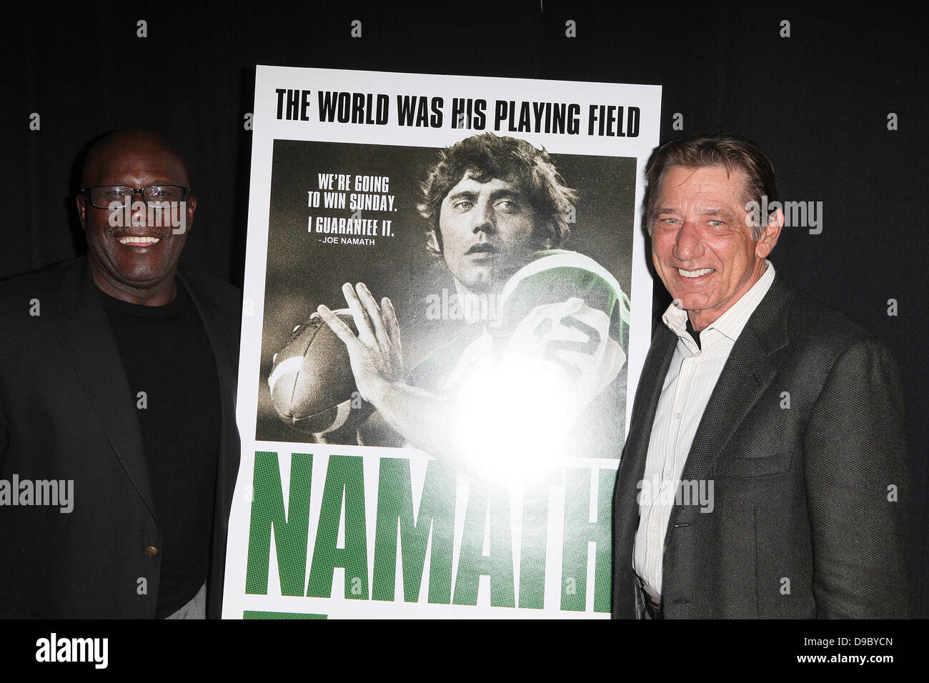 Emerson Boozer, Former JET, Joe Namath, at the premiere of 'Namath' at the HBO theatre New York City, USA - Stock Image