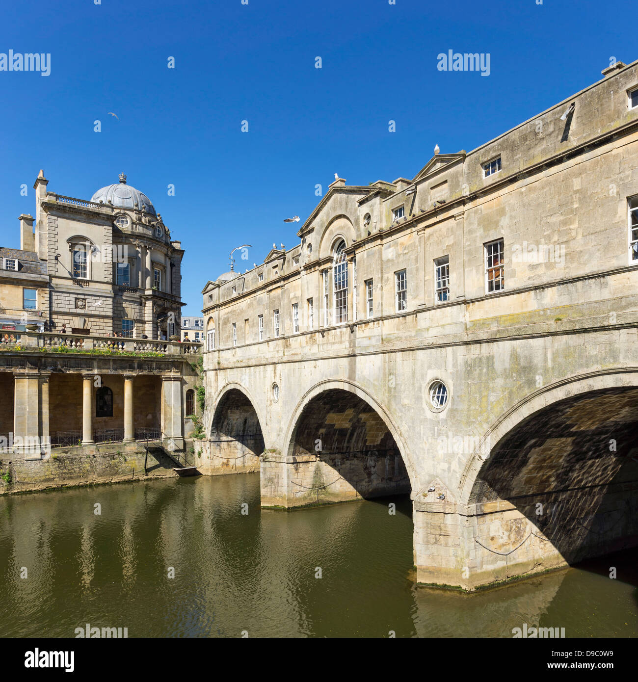 Pulteney Bridge, Bath, England - Stock Image